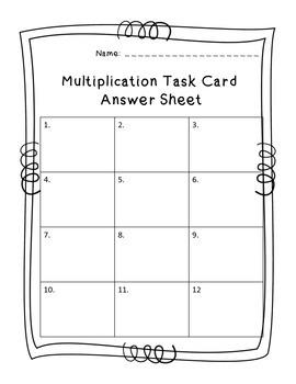 4.NBT5 Two Digit Multiplication Task Cards