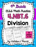 4.NBT.6: Dividing (Partial Quotients, Distributive Property, Long Division)
