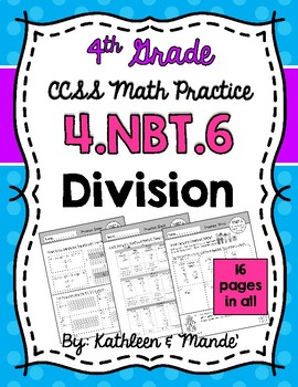 4.NBT.6 Practice Sheets: Division
