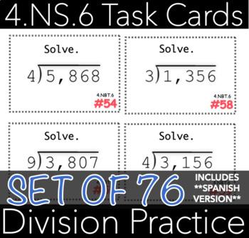 4.NBT.6 Division Task Cards