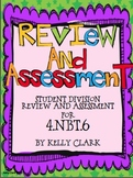 4.NBT.6 Division Unit Review and Assessment for Students