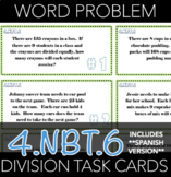 4.NBT.6 Division Word Problems Task Cards