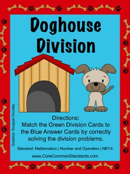 4.NBT.6 Fourth Grade Common Core Worksheets, Activity, and Poster