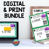 4NBT6 Multidigit Division 4 digit by 1 digit Boom Cards™ a
