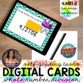 4NBT6 Multidigit Division NO REMAINDERS Boom Cards™   Dist