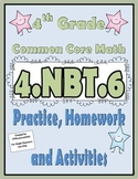 4.NBT.6 Practice, Homework, and Activities 4th Grade Common Core Math