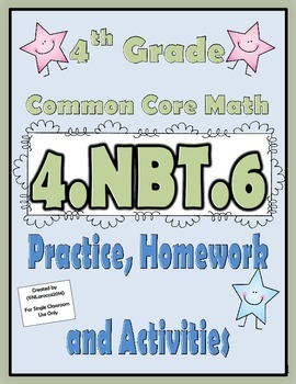 4.NBT.6 Practice, Homework, and Activities 4th Grade Commo