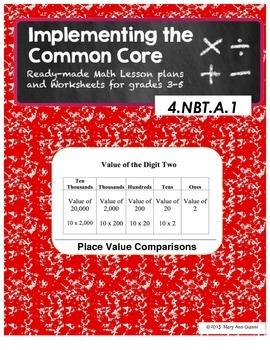 4.NBT.A.1 Place Value Comparisions