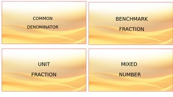 4.NF Math Vocabulary Cards