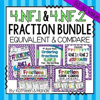 4.NF.1 & 4.NF.2 Bundle: Equivalent Fractions & Comparing Fractions