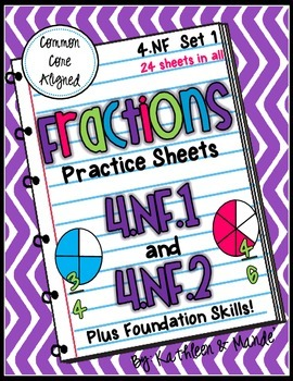 4.NF.1 & 4.NF.2 Practice: Equivalent Fractions & Comparing