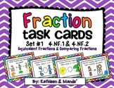 4.NF.1 & 4.NF.2 Task Cards (Equivalent Fractions & Comparing Fractions)