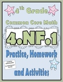 4.NF.1 Practice, Homework, and Activities 4th Grade Common Core Math