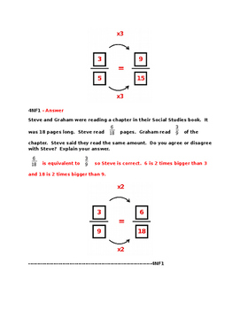 4NF1  Pre and Post Assessments