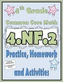 4.NF.2 Practice, Homework, and Activities 4th Grade Common Core Math