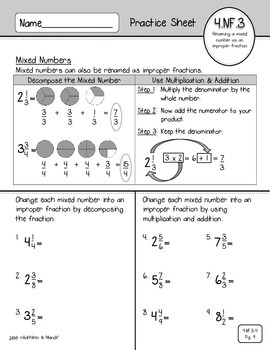 4.NF.3 & 4.NF.4 Practice: Add, Subtract, & Multiply Fractions