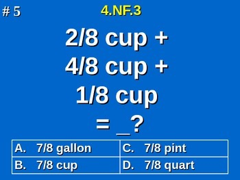 4.NF.3 4th Grade Math - Understand A Fraction As A Sum Of Fractions