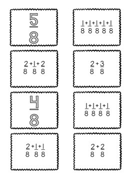 {FREEBIE} 4.NF.3:Decomposing Fractions {Matching Cards & Worksheet}