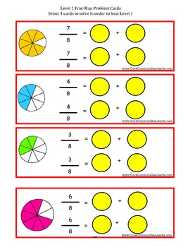 4.NF.3 Fourth Grade Common Core Worksheets, Activity, and Poster