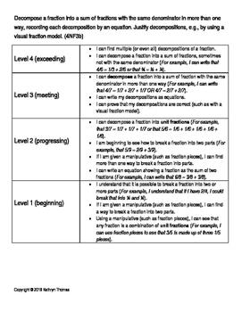 4NF3b (4.NF.B.3.b) Learning Progression