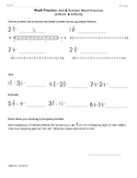 (4.NF.3c&d)Adding and Subtracting Fractions:4th Grade Math Worksheets