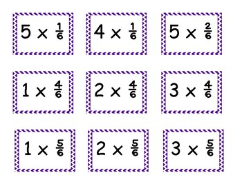 4.NF.B.4 Game - Multiply Fractions by a Whole Number Using a Number Line