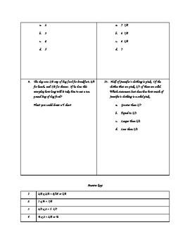 4.NF.4 - Multiply Fractions  Assessment (Interpret Models, Solve Word Problems)