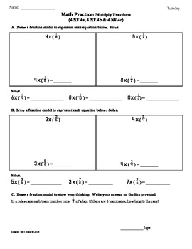 (4.NF.4)Multiplying Fractions:4th Grade Common Core Math Worksheets