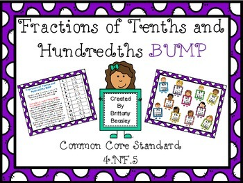 4.NF.5 Fractions of Tenths and Hundredths BUMP Game