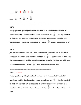4NF5 Pre and Post Assessments