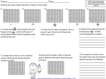 Add and Subtract Decimals Task Cards, Worksheets and Coloring Page
