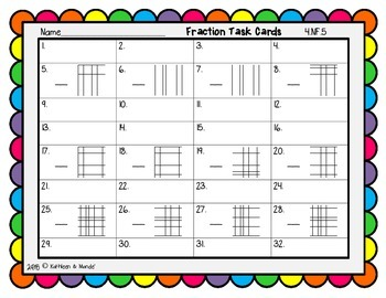 4.NF.5 Task Cards: Equivalent Fractions {Tenths & Hundredths}