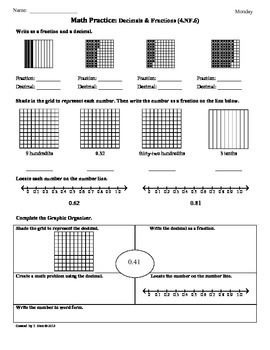 4 nf 6 decimals fractions 4th grade common core math worksheets. Black Bedroom Furniture Sets. Home Design Ideas