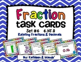 4.NF.6 Task Cards: Relating Fractions & Decimals