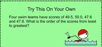4NF7 Compare and Order Decimal Numbers