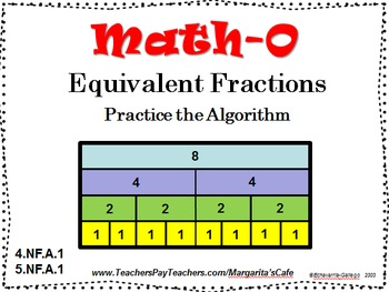 EQUIVALENT FRACTIONS, Practice the Algorithm