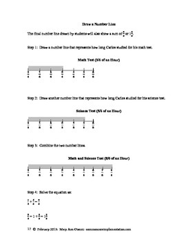 4.NF.B.3.D Word Problems Involving the Addition and Subtraction of Fractions