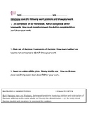 4.NF.B.3d  Fraction Word Problems Fourth Grade Common Core Math Worksheet