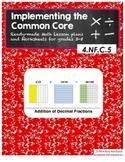 4.NF.C.5 Addition of Decimal Fractions