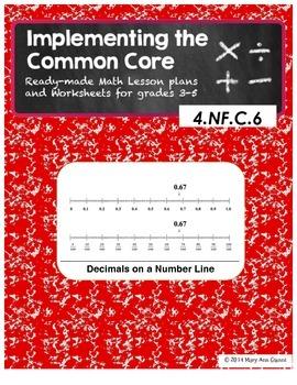 4.NF.C.6 Decimals on a Number Line