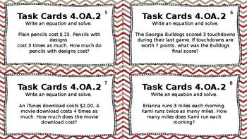 4OA Task Cards