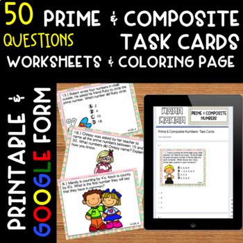 4.OA.1-4.OA.5 Multiplication/Division, Multi-Step Problems, Patterns Task Cards