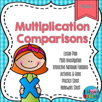 4.OA.1 Multiplication Comparisons