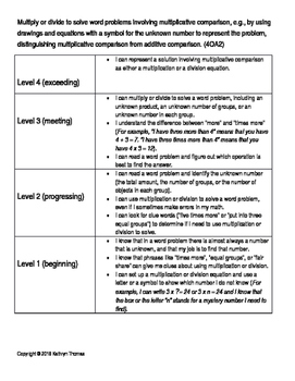 4OA2 (4.OA.A.2) Learning Progression