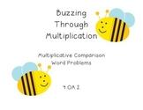 4.OA.2 - Multiplicative Comparison Word Problem - Task Cards