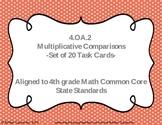 4.OA.2 Multiplicative Comparisons Task Cards