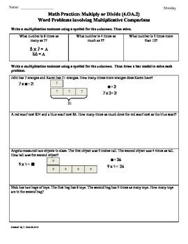 Common core math word problems worksheets 4th grade