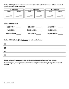 (4.OA.2)Word Problems-Multiplicative Comparison:4th Grade Common Core Worksheets