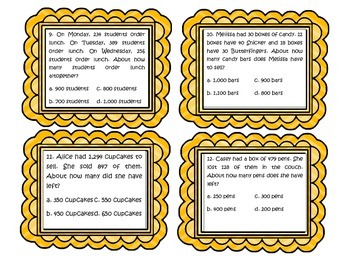4.OA.3 Word Problem Task Cards