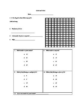 4.OA.4 Assessment - Prime, Composite, Factors, and Multiples